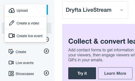 Create live event
