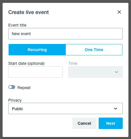 Livestream event details
